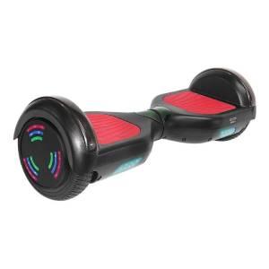 "Skate Elétrico Hoverboard 6,5"" Preto com LED e Bluetooth FS3400 - Foston"