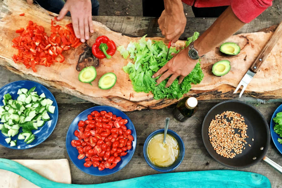 cozimento de legumes