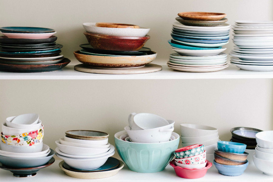 organizar prateleiras da cozinha