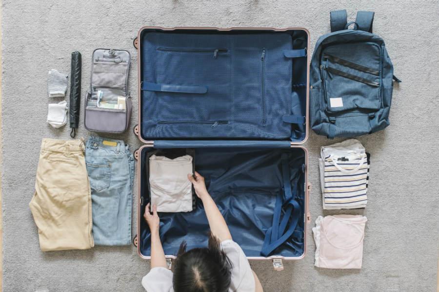 como arrumar a mala de viagem para 4 dias